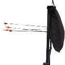 Side view of Shield HD Archery Backstop